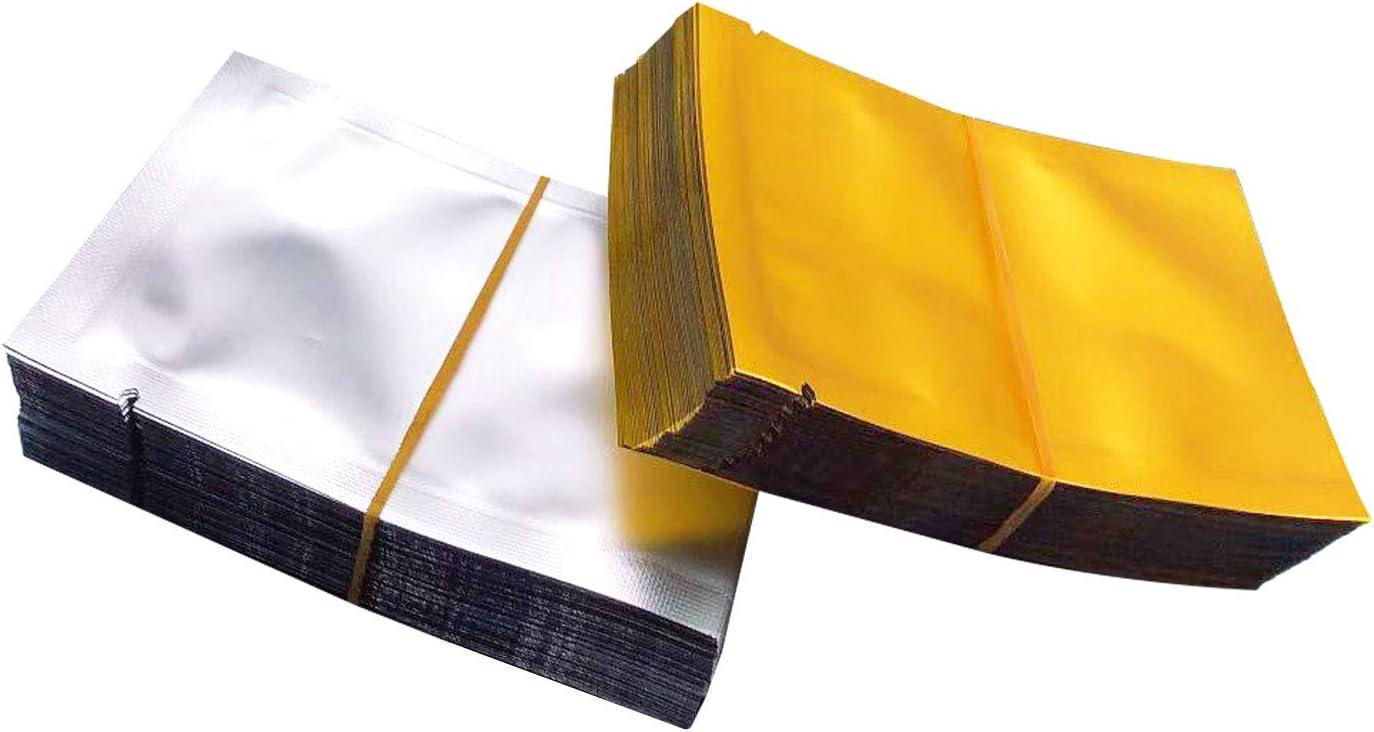 Markeny 200pcs Matte Sample Pack Flat Open Top Resealable Tear Notch Aluminum Foil Mylar Bags (2.4 x 3.5