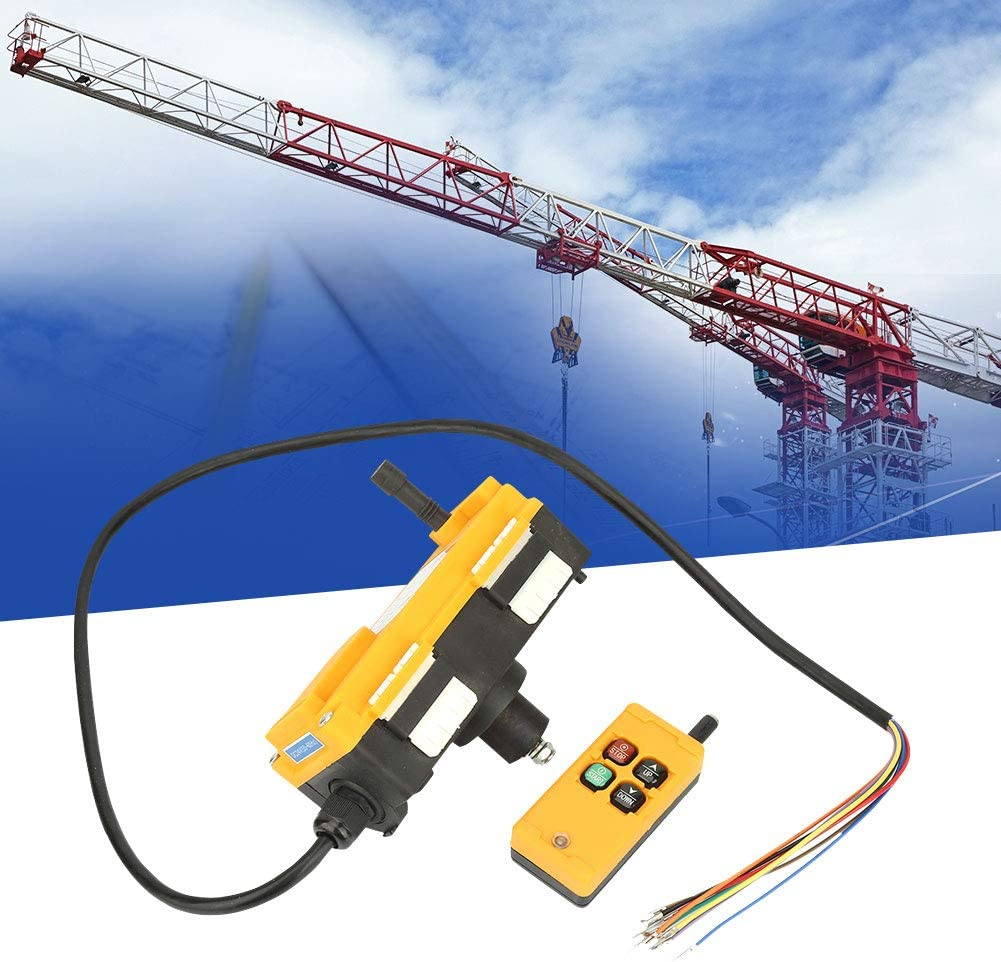 Remote Control Switch for Hoist and Crane Lifting Remote Controller 4 Buttons Crane Chain Hoist Push Button Switch