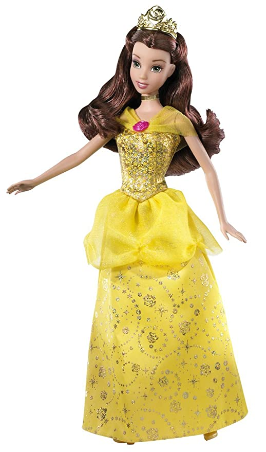 5edc08b0e947 Image Unavailable. Image not available for. Color: Disney Sparkling Princess  Belle Doll