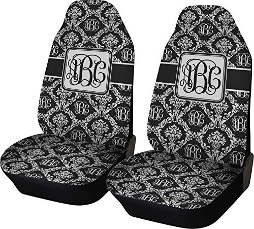 RNK Shops Monogrammed Damask Car Seat Covers (Set of Two) (Personalized)
