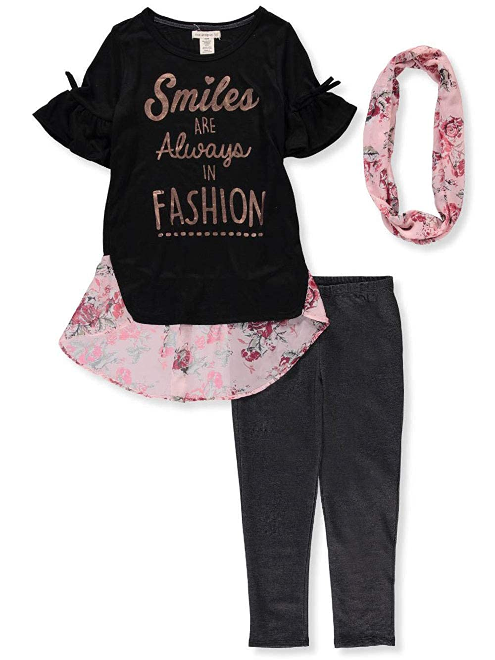 One Step Up Girls' 2-Piece Leggings Set Outfit Scarf