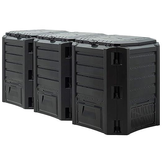 DeTec Compostador rápido de plástico de PVC, 380 litros, 800 ...