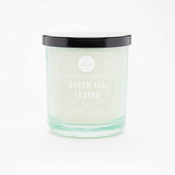 Decoware Richly Scented Green Tea Leaves 10.35 Oz. Candle with Lid