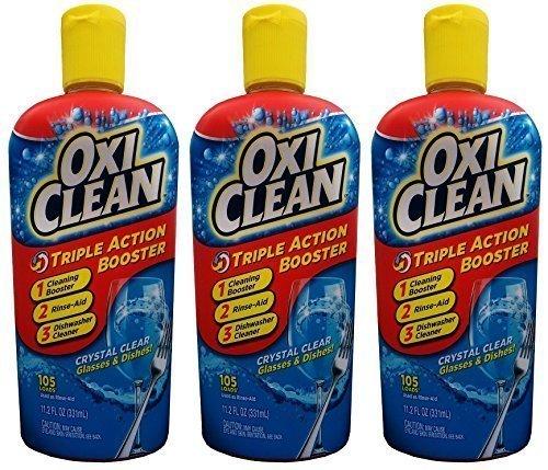 OxiClean Dishwashing Booster - Triple Action - 105 Loads - Net Wt. 11.2 FL OZ (331 mL) Each - by OxiClean