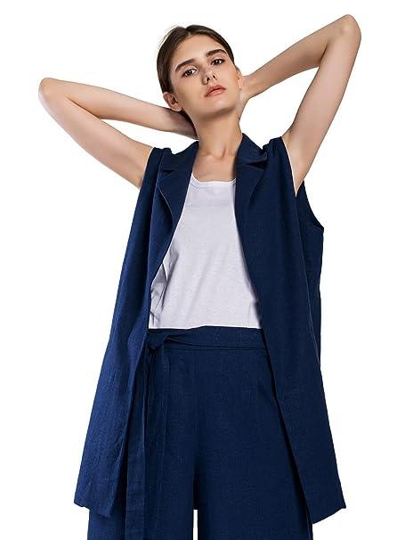 Amazon.com: Mujer Base lino traje lino Casual traje traje de ...
