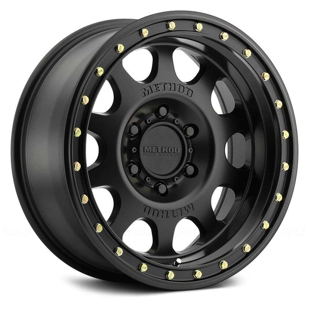 Method Race Wheels Vex Matte Black Wheel with Painted Finish and Zinc Plated Accent Bolts 17 x 8.5 inches //6 x 135 mm, 0 mm Offset