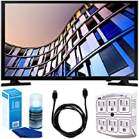 Samsung UN24M4500 23.6 720p Smart LED TV (2017 Model) w/ Accessories Bundle Includes, 6ft High Speed HDMI Cable - Black, SurgePro 6-Outlet Surge Adapter w/ Night Light and LED TV Screen Cleaner