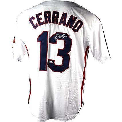 new style e31dc cbfd7 Dennis Haysbert Signed Pedro Cerrano Major League Jersey ...