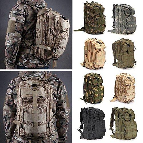 Bazaar 30L Outdoor Camo Backpack Rucksack Camping Hiking Trekking Shoulder Bag Pack