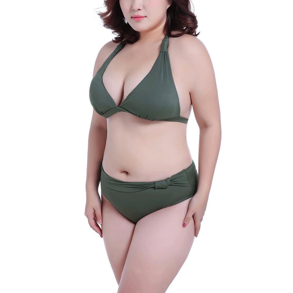 ba798ad1e71 BIKINIS Pride S Fashion Split Swimsuit Large Size Comfortable Breathable  Spa Swimsuit Beach Swimsuit (Color   Green