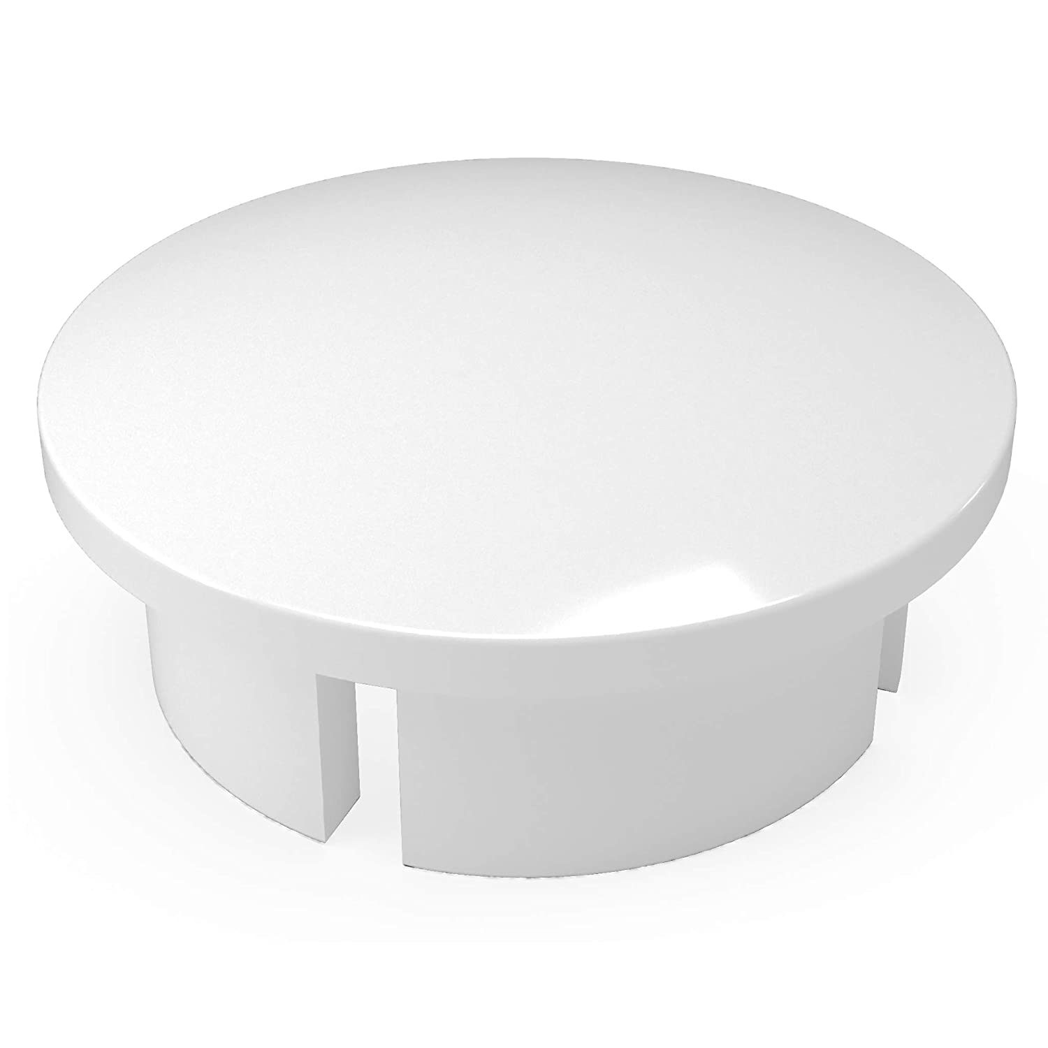 "FORMUFIT F001IDC-WH-10 PVC Internal Domed End Cap, Furniture Grade, 1"" Size, White (Pack of 10)"
