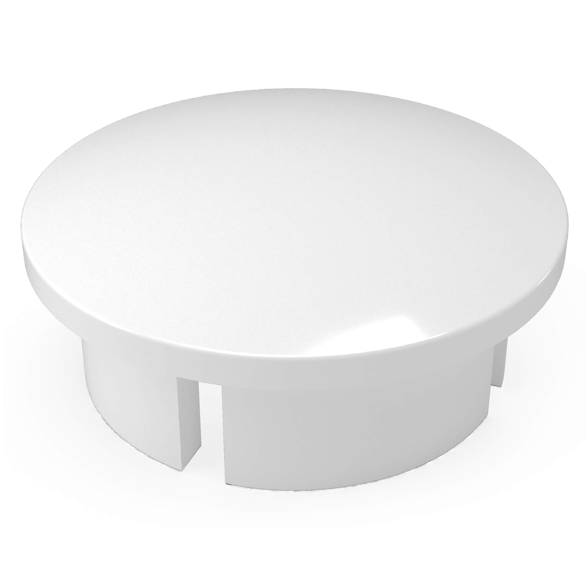 FORMUFIT F012IDC-WH-10 PVC Internal Domed End Cap, Furniture Grade, 1/2'' Size, White (Pack of 10)