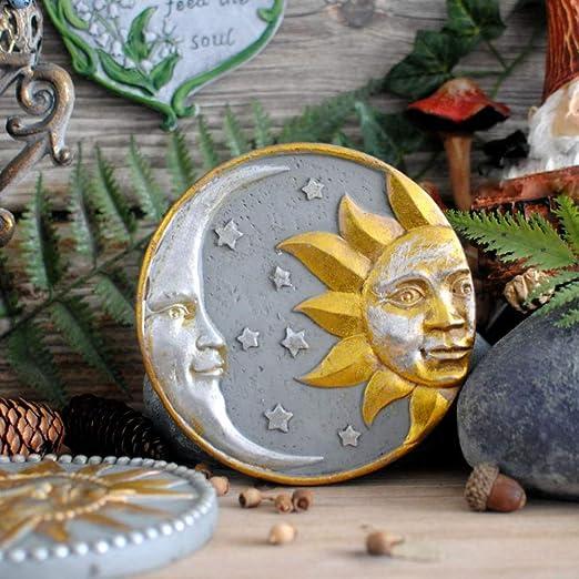 Ornamento Decoración De La Pared Vintage Viejo Sol Luna Dios ...