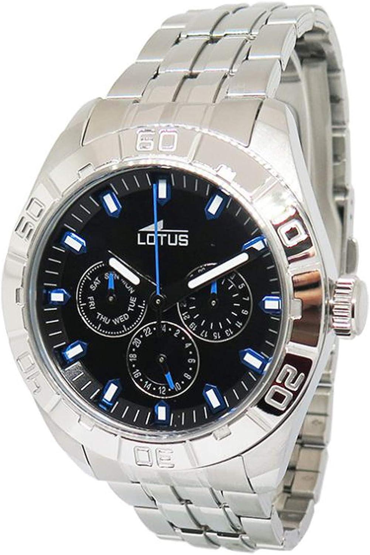 Lotus Watches Reloj para Hombre Analógico de Cuarzo con Brazalete de Acero Inoxidable 15814/D