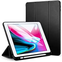 Oaky Smart Case Cover Compatible with iPad 9.7 inch 2018/17 6th Gen Pencil Holder Auto Sleep/Wake Cover - Black
