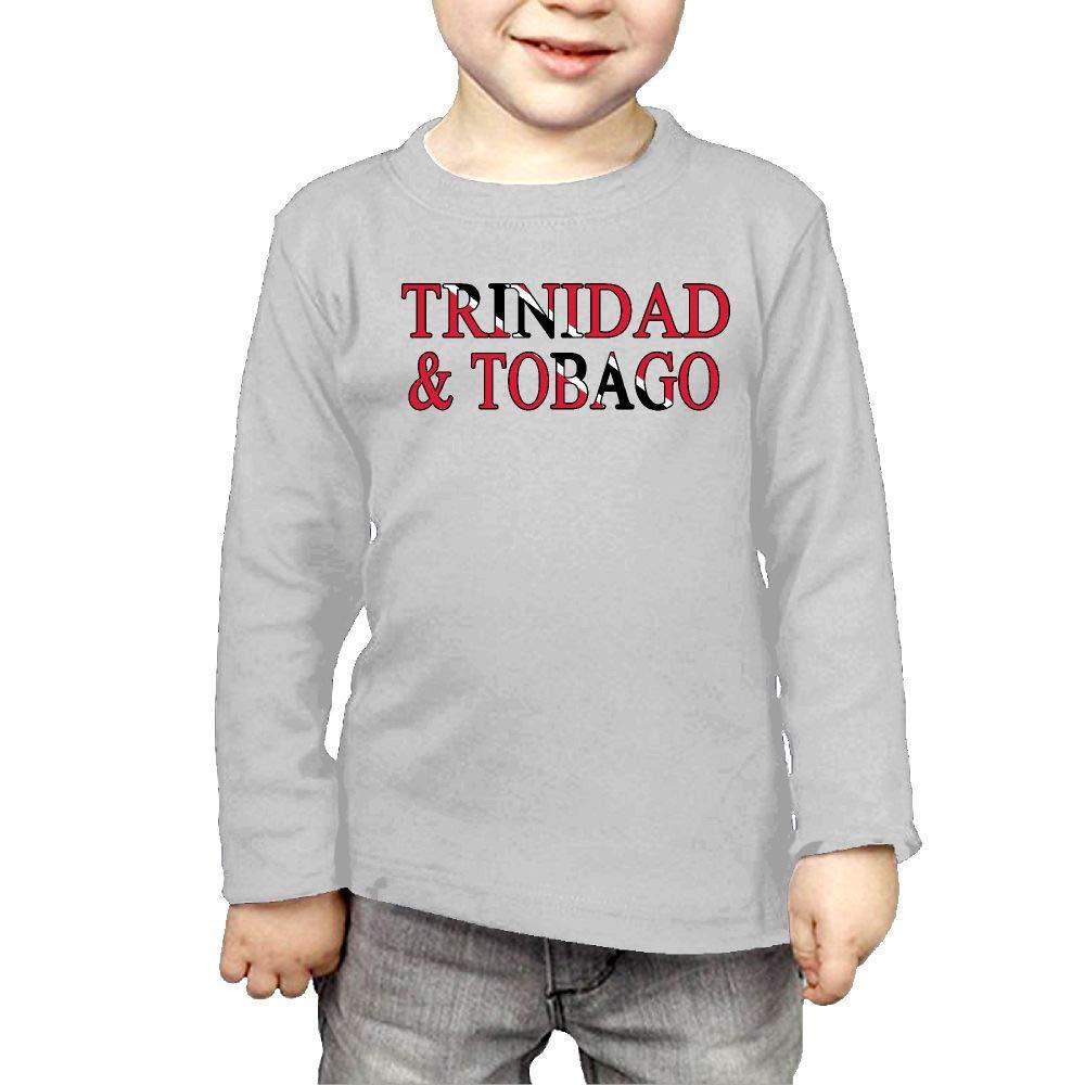 Fryhyu8 Toddler Kids Trinidad /& Tobago Printed Long Sleeve 100/% Cotton Infants Tee Shirt