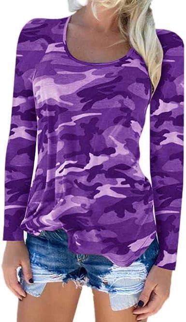 Longsleeve Blusa De Moda para Mujer Camisa Casual Camiseta Camuflaje Especial Estilo para Mujer Sudadera De Manga Larga Pullover Tops Sueltos Top: Amazon.es: Ropa y accesorios