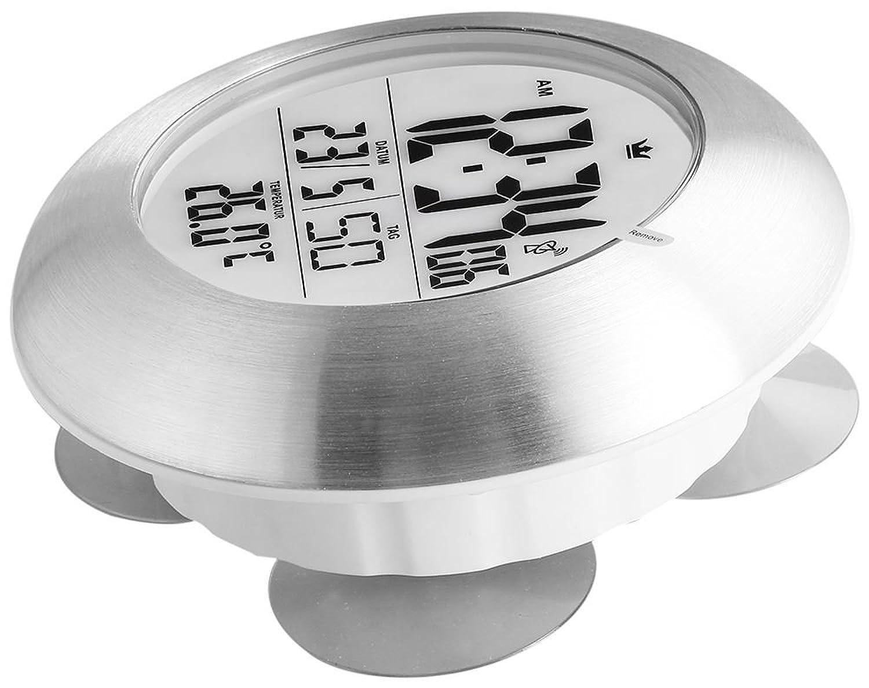 Sempre Wanduhr Bad-Funkuhr Grau Silber 17 cm Durchmesser: Amazon.de ...