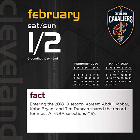 Cavs Schedule 2020.Amazon Com Cleveland Cavaliers 2020 Calendar Office Products