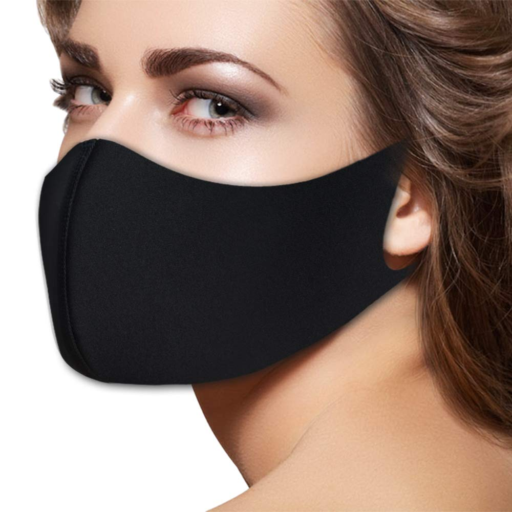 Fashion Flu Dust Masks N95 Filters Breathable Safety Respirator for Outdoor Cycling Half Face Dust Mask Pollen Flu Germs Allergens Surgical Masks for Women Men (Black) by ZGL