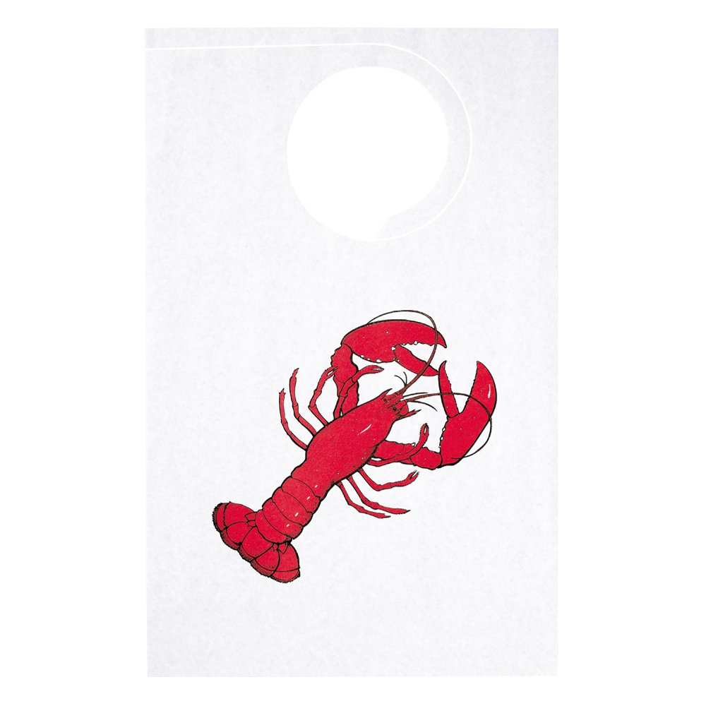 Hoffmaster BPTA-LBSTR Adult Tissue/Poly-Backed Bib, 21-1/4'' Length x 14'' Width, Lobster (Case of 500) by Hoffmaster