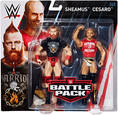 61QRegPCxiL - WWE Series # 49 Sheamus & Cesaro, 2 Pack Action Figure