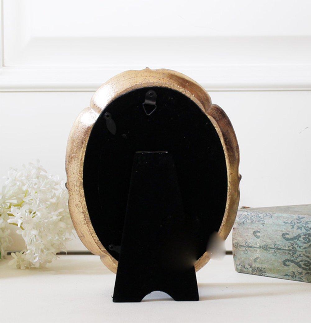 liuhoue Rústico Marco Vintage, Hacer Arte Oval Oro Viejo portaretrato 6 Pulgadas 7 Pulgadas Decorativos Foto Marco-A 10.2x15.3cm(4x6inch): Amazon.es: Hogar