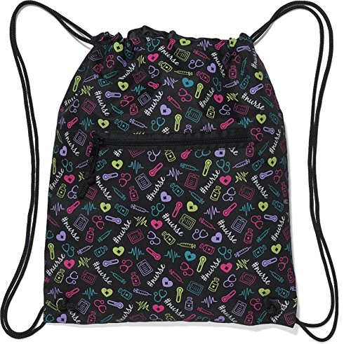 Nurse Mates Nurse Cinch Sack Backpack Multi Nurse by Nurse Mates