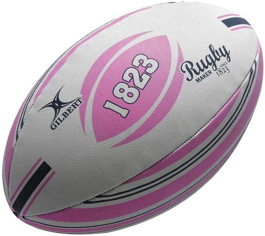 Gilbert Random - Pelota de Rugby, Color Rosa, Talla Size 5: Amazon ...