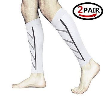 2 pares de mangas de compresión, para dolor de espinilla, pantorrillas, esguinces,