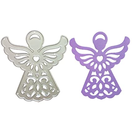 2019 Newest Angel Metal Die Cutting Dies Handmade Stencils Template Embossing For Card Scrapbooking Craft Paper Decor By E Scenery F