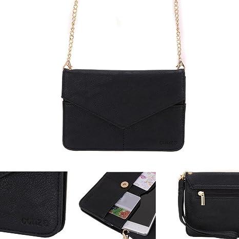 Conze Mujer embrague cartera todo bolsa con correas de hombro compatible con BLU R1 Plus/