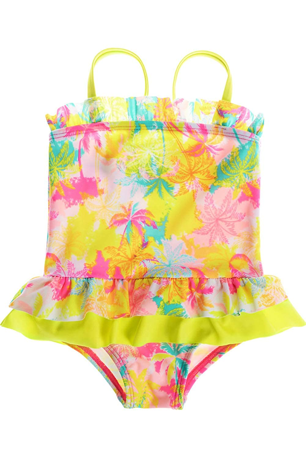 CharmLeaks Baby Girls Cute One Piece Swimming Costumes Printed Swimsuits Swimwear