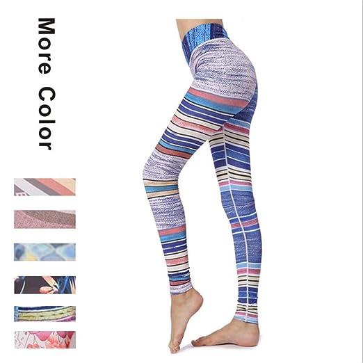 Deportivas Mujer Leggins, Pantalones de chándal de yoga a rayas de ...