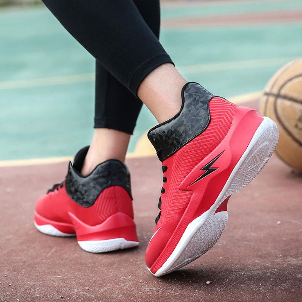 YSZDM Basketball-Schuhe, High to Shock Absorption Rutschfeste Rutschfeste Rutschfeste Atmungsaktive Sportschuhe Outdoor Herren Trainingsschuhe,rot,44 B07PNQXGZF Basketballschuhe Verkaufspreis 156536