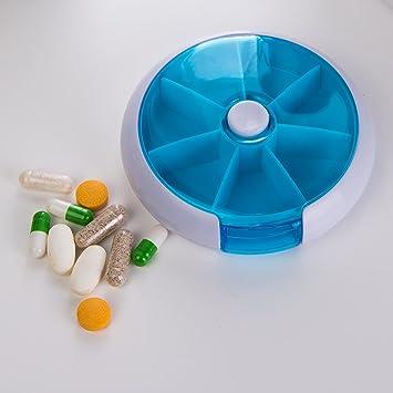 Saiko - Pastillero organizador semanal 7 días redondo medicinas Vitaminas pastillas contenedor dispensador de almacenamiento mediplanner: Amazon.es: Salud y ...