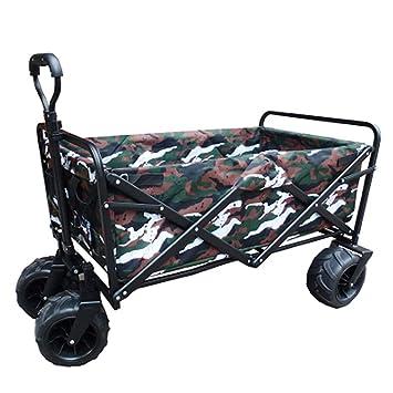 Carro De Playa Marco De Acero Robusto Plegable Portátil Lona Camping Wagon Para Jardín Al Aire Libre Picnic,7: Amazon.es: Hogar