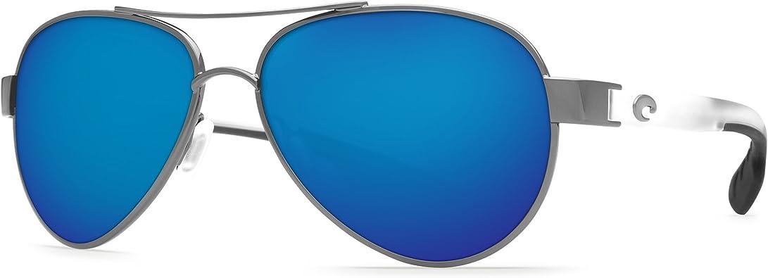Costa Del Mar Loreto Sunglasses Palladium W//White Blue Mirror
