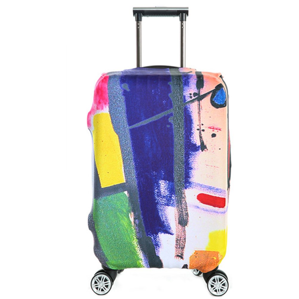 Travel Luggage Cover,Elastic Suitcase Cover,Luggage Protective Cover,Fits 22-24 Inch Red