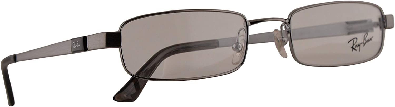 Ray-Ban RB 6076 Gafas 49-19-135 Plateadas Con Lentes De Muestra 2553 RX RX6076 RB6076: Amazon.es: Ropa y accesorios