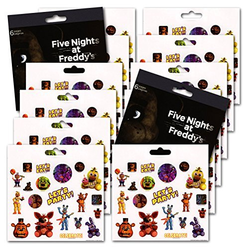 Five Nights at Freddy's Party Favors - Bundle of 12 Sheets 240+ Stickers!