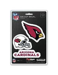 NFL Arizona Cardinals Team Decal, 3-Pack