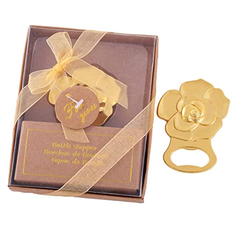 Amazon 12 Pcs Gold Rose Love Bottle Opener Wedding Favors Gifts