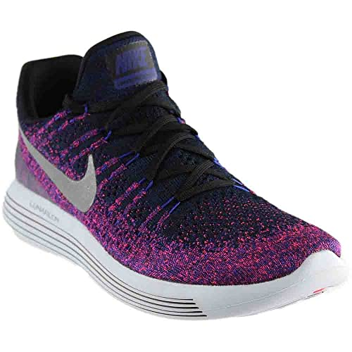 official photos fb0ad eb0bb Nike Men's Lunarepic Low Flyknit 2 Running Shoes (8.5 D(M) US, Black/Reflect  Silver): Buy Online at Low Prices in India - Amazon.in