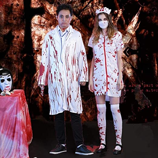 Jsmily Disfraz De Fiesta De Disfraces De Halloween Horror Hombre ...