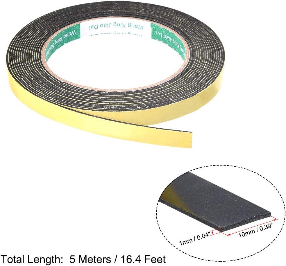 sourcing map Joint mousse 20mm bande large 2mm /épaisseur 16,4 long /étanch/éit/é adh/ésif 2pcs