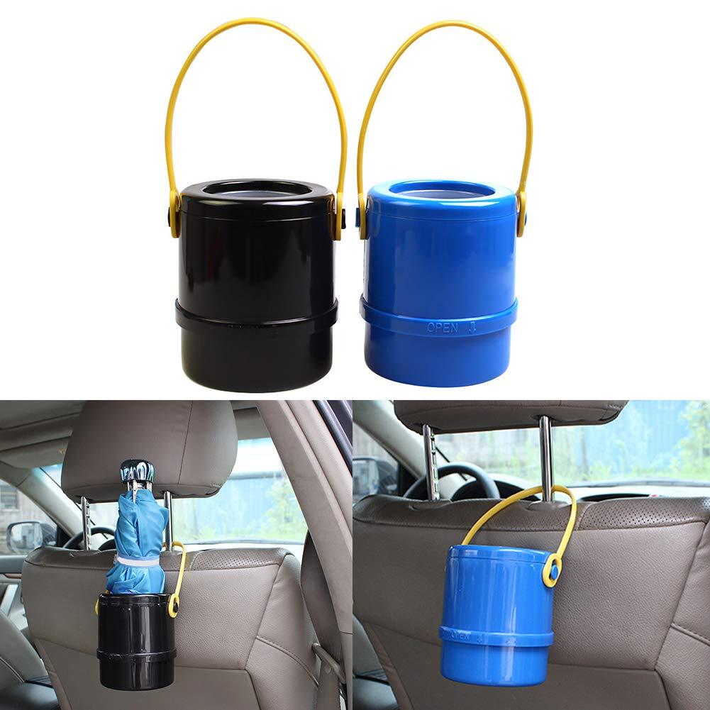 Mosichi Car Telescopic Umbrella Storage Bucket Muti-Function Umbrella Holder Trash Can for Car Home Outdoor Black