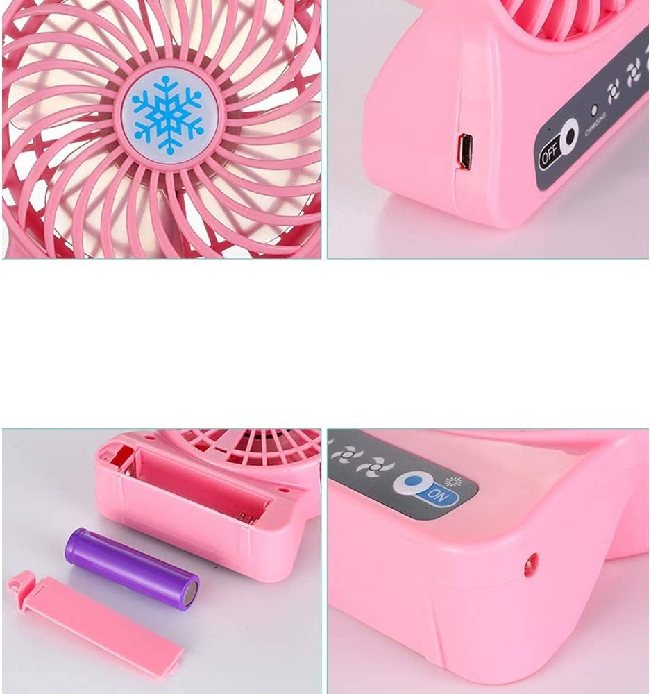 Color : A Jian E Mini Fan Rechargeable USB Mini Fan Handheld Creative Art Student Dormitory Portable 4.5w