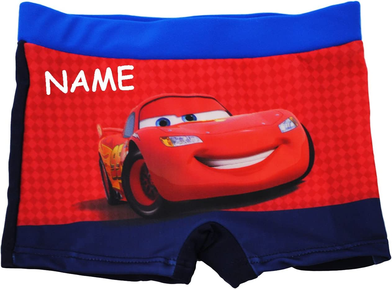 alles-meine.de GmbH Badehose // Badeshorts Gr Lightning McQueen // Auto Disney Cars f/ür Jungen Kinder Badepants Name 98 bis 104 Gr/ö/ße 2 bis 3 Jahre Boxersh.. incl