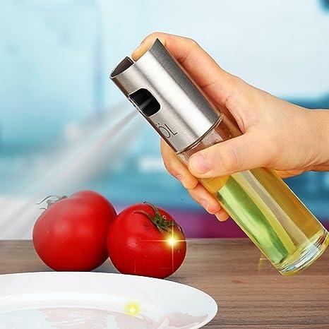 Aceite de oliva pulverizador portátil barbacoa parrilla de cocina aceite de cocina pulverizador de gatillo botella